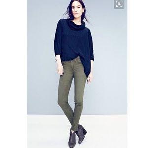 Rag and bone distressed fatigue skinny jeans/25